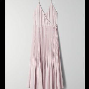 Aritzia Wilfred Beaune Pleated Wrap Dress